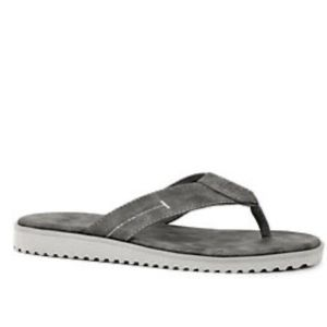 UGG Isaiah Thong Sandal in Gray / Charcoal Suede.